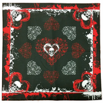 Bandanas - Skulls, Hearts, and Blood Splatter Bandana (Black/Red)
