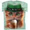 Irish Kitten Big Face T-Shirt