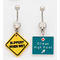 Sexy Roadsigns Belly Rings (3 Pack Assorted)