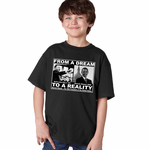 "Barack Obama & Martin Luther King ""From A Dream To Reality"" Kids T-Shirt"