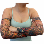Tattoo Sleeves - Demon and Skulls Tattoo Sleeves (Pair)