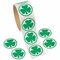 Roll of Shamrock Stickers (100 Pieces)