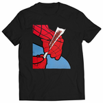Cartoon Spider Hands Rolling Up Men's T-shirt