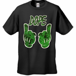 Dope Pot Leaf Pattern Cartoon Hands Men's T-Shirt