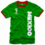 Mexico FIFA World Cup Brasil 2014 Men's Ringer T-Shirt
