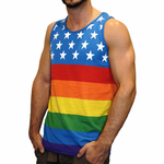 American Flag Pattern Rainbow Tank Top