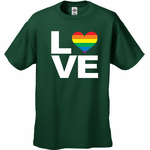 Love Rainbow Heart Men's T-Shirt