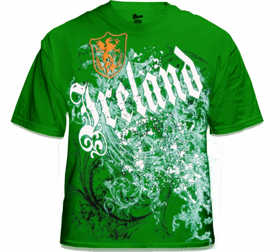 International T-Shirts - Ireland Gothic Crest Tee