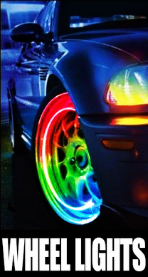 LED Car and Bicycle Wheel Lights (Pair)