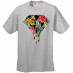 Floral Dripping Diamond Men's T-Shirt