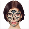 Silver Glittering Day of the Dead Temporary Face Tattoo