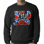 Wild Bitch Flag Adult Crewneck