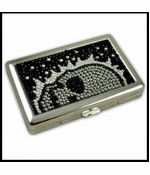 Deluxe Stone Cigarette Case With Skulls (For Regular's & 100's)