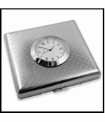 Art Deco Cigarette Case with Built in Clock (For Regular Size Only)