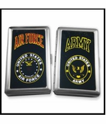 US Military Insignia Cigarette Cases (For Regular Size & 100's)