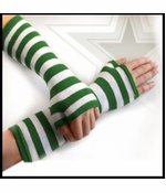 St. Patrick's Day Green Striped Arm Warmers