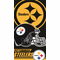 Pittsburgh Steelers Helmet Beach Towel (30 x 60)
