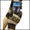 Cell Phone Texting Gloves Brown SnowFlake