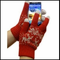 Cell Phone Texting Gloves Red Reindeer