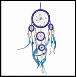 Large Blue Beaded Dream Catcher