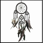 Large Black Beaded Dream Catcher