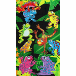 Tropical Tree Frogs Velour Beach & Bath Towel
