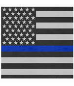 "Thin Blue Line Flag Bandana (22""x22"")"