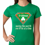 Irishman Saving The World One Drink At a Time Emoji Women's T-shirt