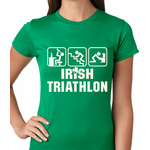 Irish Triathlon Funny St. Patrick's Day Women's T-shirt