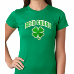 Beer Guard Irish Shamrock St. Patrick's Day Women's T-Shirt