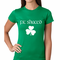 Fit Shaced (Shit Faced) St. Patrick's Day Shamrock Drinking Women's T-Shirt