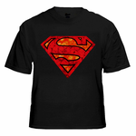 Superman Glowing Skulls Glow in the Dark T-Shirt