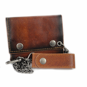 Brown Vintage Leather Chain Wallet