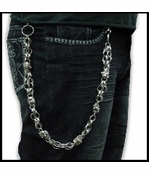 Iced Out Skulls Jean & Wallet Chain