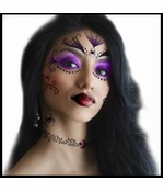 Witch Temporary Face Tattoo