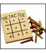 Wooden Tic Tac Toe Peg Game
