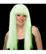 Halloween Wigs - Glow In The Dark Adult Wig (White)