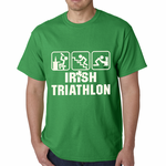 Irish Triathlon Funny St. Patrick's Day Men's T-shirt