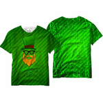 Minimalist Leprechaun St. Patrick's Day All Over Print Sublimation Men's T-shirt