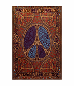 "3D Peace Love Tapestry 60"" x 90"""