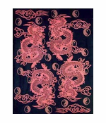 Four Dragon Oriental Tapestry