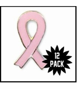 Breast Cancer Lapel Pin 12-Pack