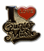 I Love Country Music Lapel Pin