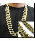 Gold and Silver Gangsta Chain