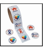 Autism Awareness Roll of Stickers - 100 pcs.