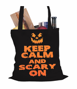 Keep Calm and Scary Halloween Tote Bag