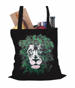 Pot Leaf Lion Tote Bag