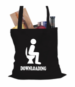 Funny Downloading Poop Tote Bag