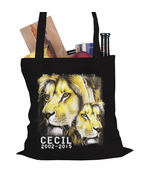 Cecil The Lion Tribute Tote Bag