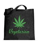 Pot Leaf Vegetarian Tote Bag